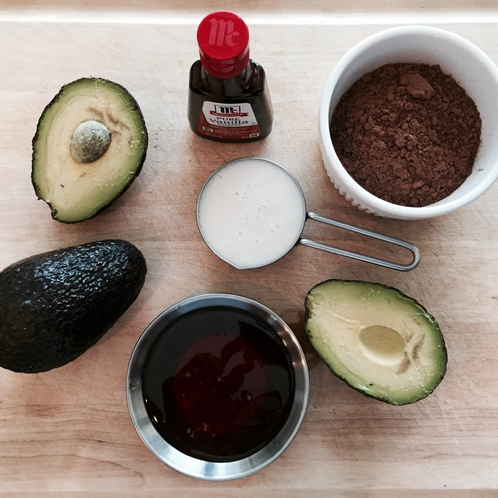 HEALTHY CHOCOLATE AVOCADO PUDDING INGREDIENTS http://balancingforlife.com/?p=154